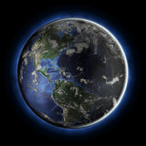 America from space Stock Photos