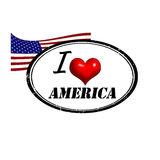 America stamp. Grunge stamp with text I Love Alabama inside and USA flag, vector illustration Royalty Free Stock Photography