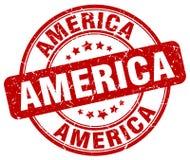 America stamp. America round grunge stamp isolated on white background. America stock illustration