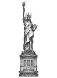 America. Statue of liberty on a white background Royalty Free Stock Photography