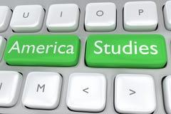 America Studies concept Stock Image