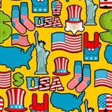 America symbols patriotic pattern. USA national ornament. State Stock Photography