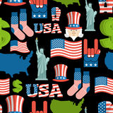 America symbols patriotic pattern. USA national ornament.  Stock Photos