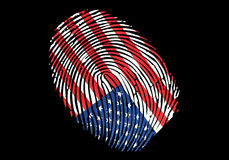 America/USA flag. USA flag on Fingerprint stamp. can be used for many concepts Royalty Free Stock Photo