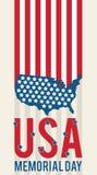 America USA Memorial Day Patriotic Vector. Symbolic US Flag. Vector illustration Royalty Free Stock Photos