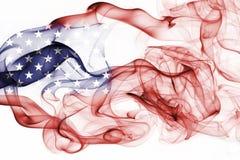 America, usa, national smoke flag. National smoke flag of America, usa, United States isolated on white background Royalty Free Stock Photography