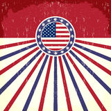 America Vintage flag poster Royalty Free Stock Photos