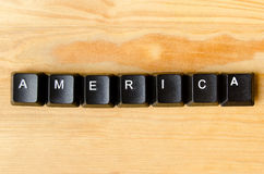 America word Stock Photo