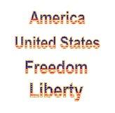 America Words Stock Image