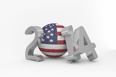 America world cup 2014. On white background Royalty Free Stock Photos