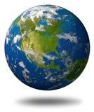 america ziemska kuli ziemskiej północ Zdjęcie Royalty Free