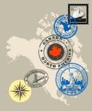 america znaczki royalty ilustracja