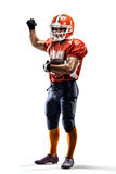 Americam football player stock photography