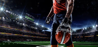 Americam-Fußballspieler Stockfotos