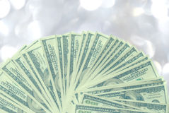 American 100 dollar bills Royalty Free Stock Photos
