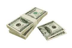 American 100 dollars. It of hundred dollar denominations Stock Photography
