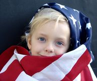 American. Flag series royalty free stock image