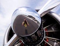 American AT-6 Texan engine Stock Photo