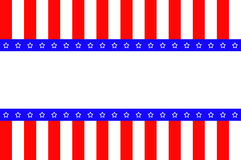American abstract flag. With white background for text Royalty Free Stock Image