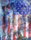 American Abstract. Multi Hued American Flag Abstract Royalty Free Stock Images