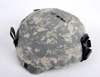 American ACH (Advanced Combat Helmet). 21st century helmet, the American ACH (Advanced Combat Helmet). The helmet is worn with the UCP camo cover. This cover Stock Images