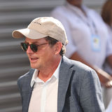 American actor, author, producer, and activist   Michael J. Fox at the red carpet before US Open 2016 men`s final match Stock Photos