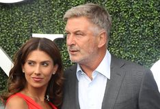 American actor, producer, and comedian Alec Baldwin with his wife Hilaria Thomas on the blue carpet. NEW YORK - AUGUST 28, 2017: American actor, producer, and stock photos