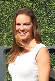 American actor and producer Hilary Swank at the red carpet before US Open 2016 men`s final match Royalty Free Stock Photos