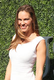 American actor and producer Hilary Swank at the red carpet before US Open 2016 men`s final match Royalty Free Stock Photo