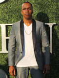 American actor and singer Leslie Odom Jr. at the red carpet before US Open 2016 opening night ceremony. NEW YORK - AUGUST 29, 2016: American actor and singer Royalty Free Stock Photos