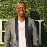 American actor and singer Leslie Odom Jr. at the red carpet before US Open 2016 opening night ceremony. NEW YORK - AUGUST 29, 2016: American actor and singer Stock Photos