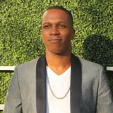 American actor and singer Leslie Odom Jr. at the red carpet before US Open 2016 opening night ceremony. NEW YORK - AUGUST 29, 2016: American actor and singer Stock Photography