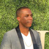 American actor and singer Leslie Odom Jr. at the red carpet before US Open 2016 opening night ceremony. NEW YORK - AUGUST 29, 2016: American actor and singer Stock Image