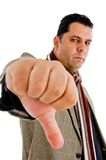 American adult with his thumb down Royalty Free Stock Photography