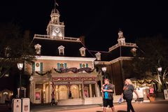 The American Adventure at Epcot. Orlando, Florida: December 4, 2017:  The American Adventure at Epcot at Walt Disney World.  Epcot opened in October 1, 1982 Royalty Free Stock Photo