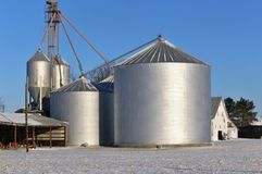 American Agriculture Farm buildings Stock Images