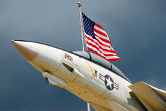 American Air Power. An American F14 outside the Naval Air Museum in Pensacola Stock Photography