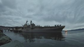 An American Aircraft Carrier Departs Trondheim