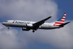 American airline passenger jet (Airbus A320) Stock Photo