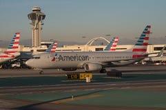 American Airlines acepilla en LAX Fotografía de archivo libre de regalías