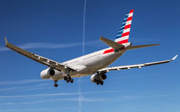 American Airlines Aerobus A330, tylni widok Fotografia Royalty Free