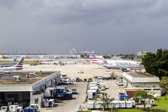American airlines aircraft in Miami Stock Image