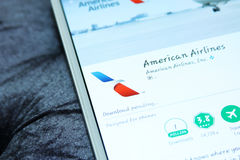 American airlines APP mobile Photo stock