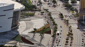 American Airlines Arena aerial view stock video footage