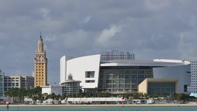 American Airlines Arena and Bongos 4k. 4k video of the AA Arena and Bongos Miami stock video