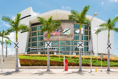 American Airlines arena, dom Miami upał Obraz Stock