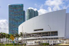 American Airlines Arena. Home of the Miami Heat basketball team. Royalty Free Stock Photography