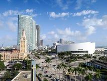 American Airlines arena i Biscayne bulwar w Miami, Floryda Fotografia Royalty Free