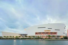 American Airlines arena i midtownen Miami Royaltyfria Bilder