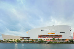 American Airlines Arena in Midtown Miami. MIAMI, FL - DECEMBER 31 2014 - Miami's central art district in the Wynwood and Edgewater neighborhoods features an Royalty Free Stock Images